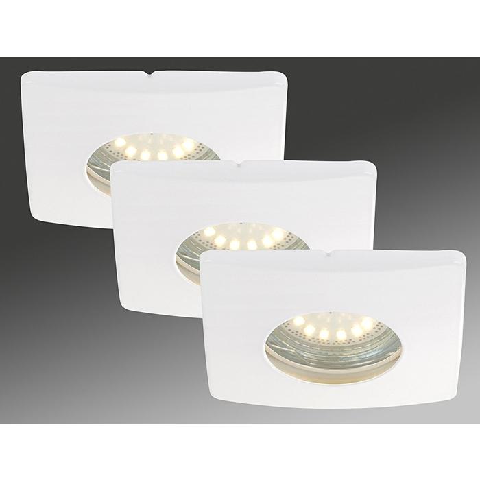 3x LED Einbauleuchte 7239-036 Briloner mit 3x 4W GU10 LED