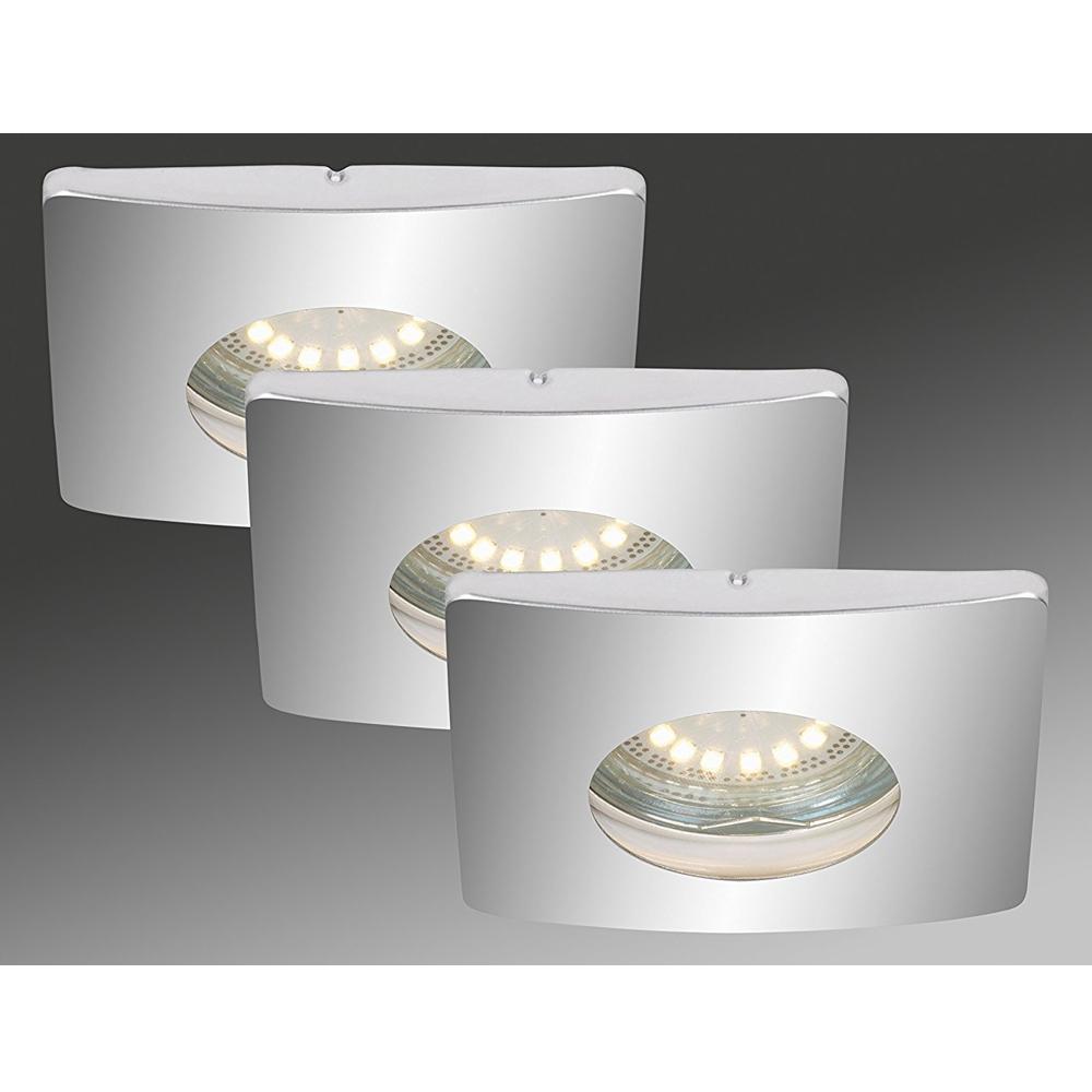 3x LED Einbauleuchte 7239-038 Briloner mit 3x 4W GU10 LED
