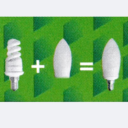 energiesparlampe e14 8w glas lampenglas sparlampe e 14 8 w. Black Bedroom Furniture Sets. Home Design Ideas