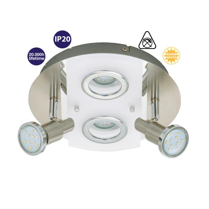 LED Deckenleuchte Darlux 60855385 Deckenlampe Badezimmer