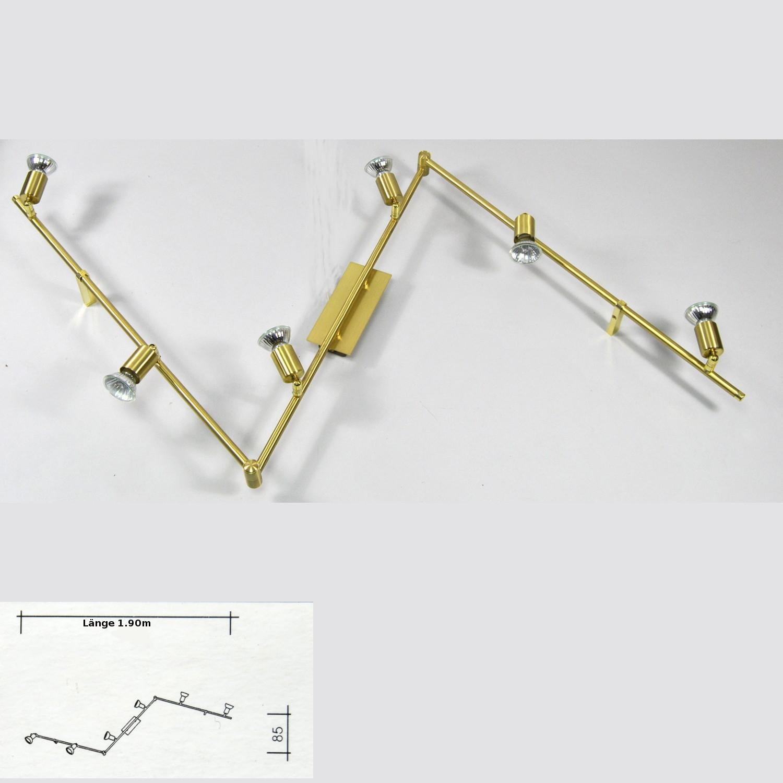 Deckenlampe Darlux 41875965 Wohnzimmerlampe 6xGU10 LED möglich Messing