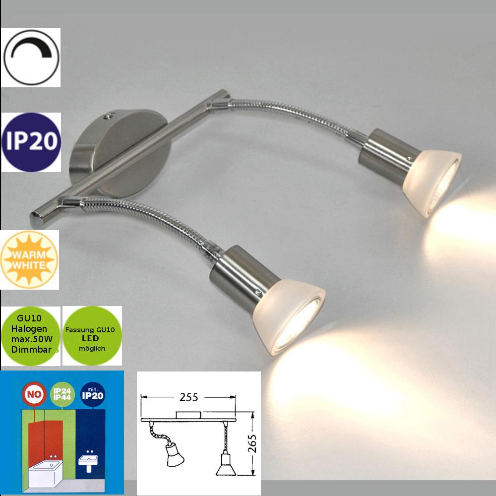 Wandleuchte Spiegellampe Darlux 42523442 Deckenlampe LED möglich GU10