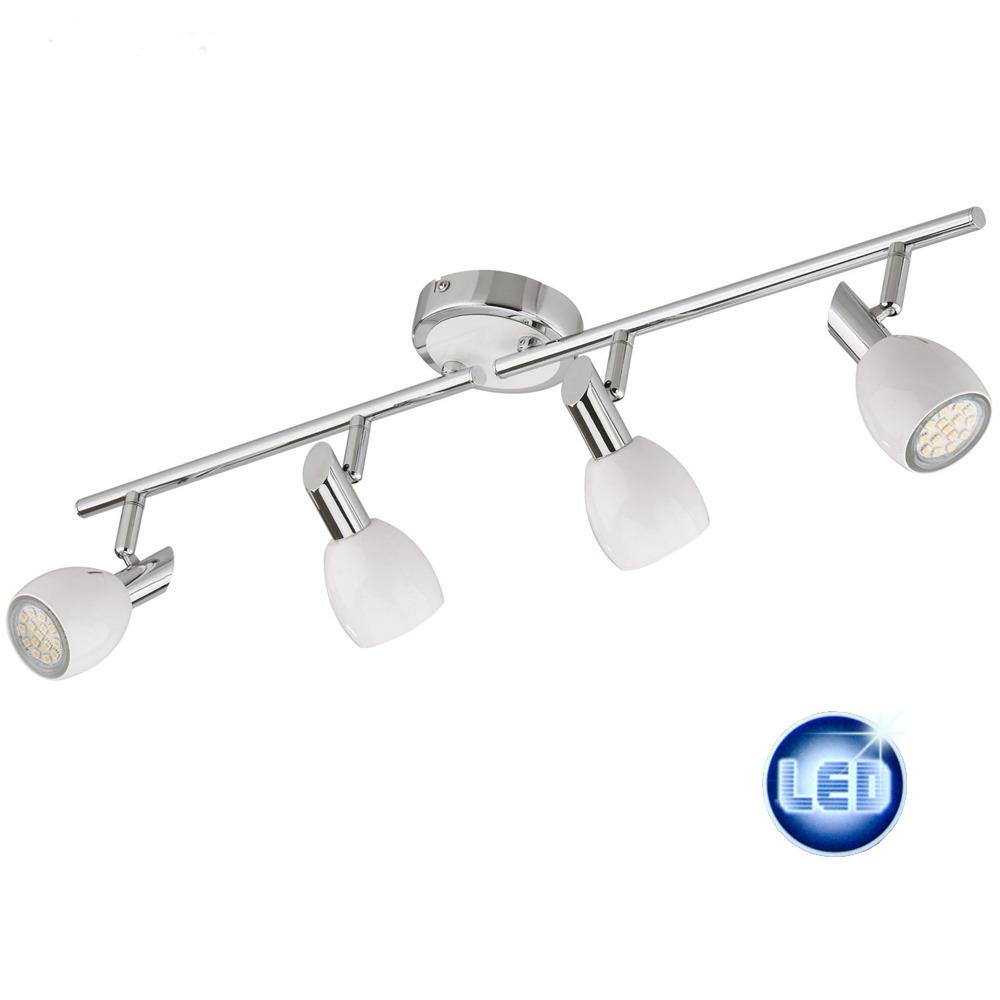 LED Deckenleuchte, Deckenlampe 4x3W GU10 LED Lampen, Darlux 52381021