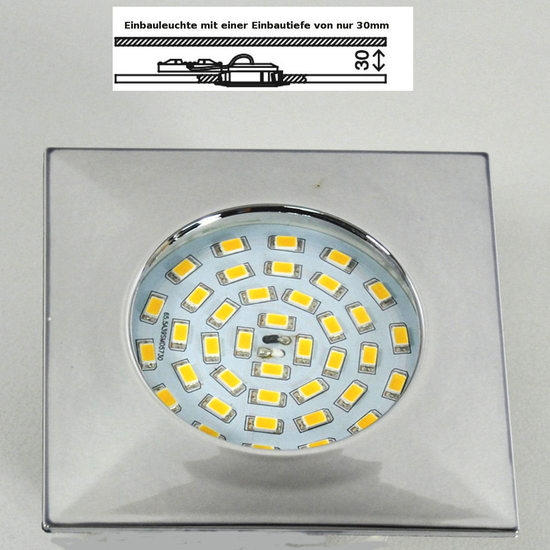 LED Einbauleuchte Darlux 52982896 10,5W chrom EinbaulampeIP44