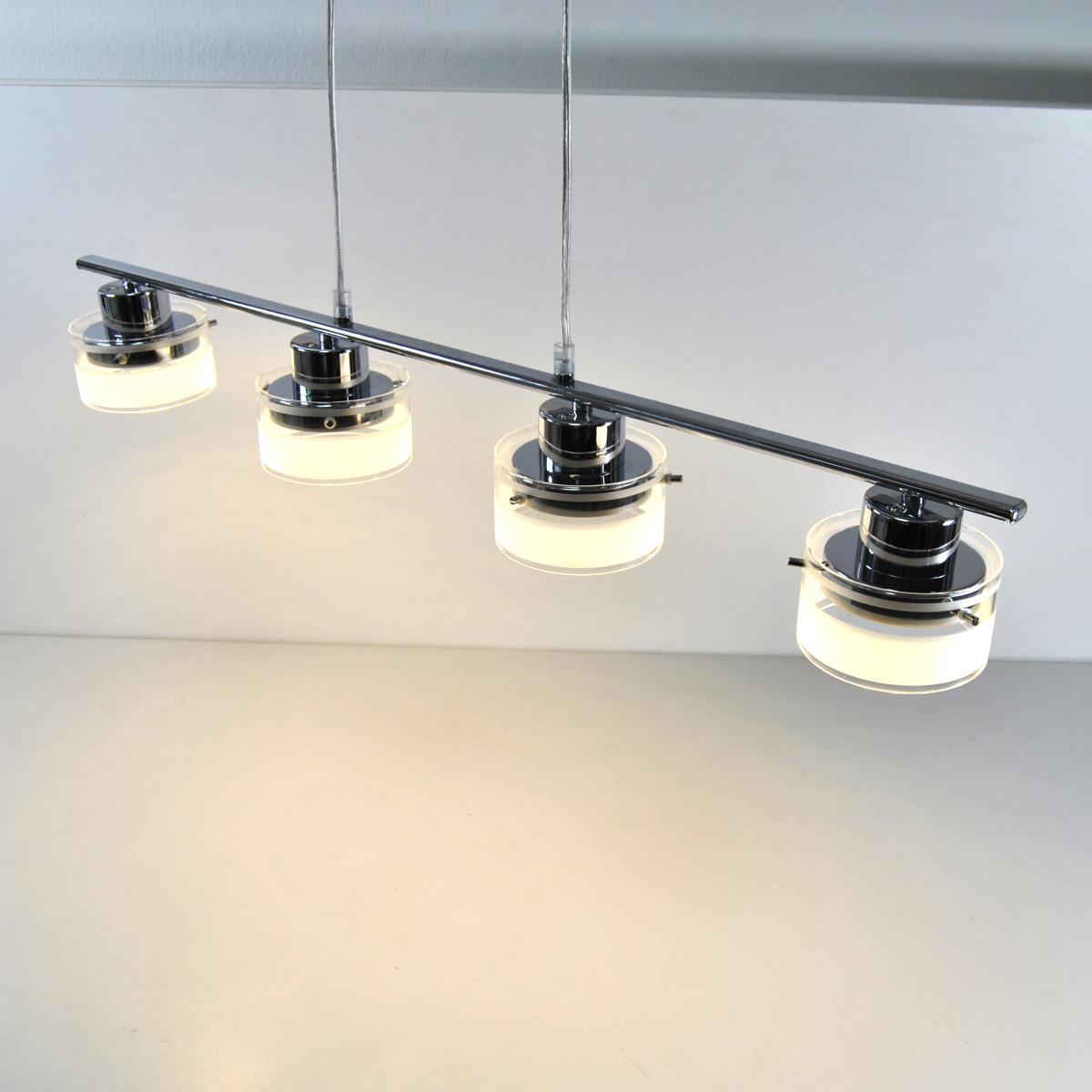 LED Pendelleuchte Hängelampe 59308647 Darlux chrom höhenverstellbar