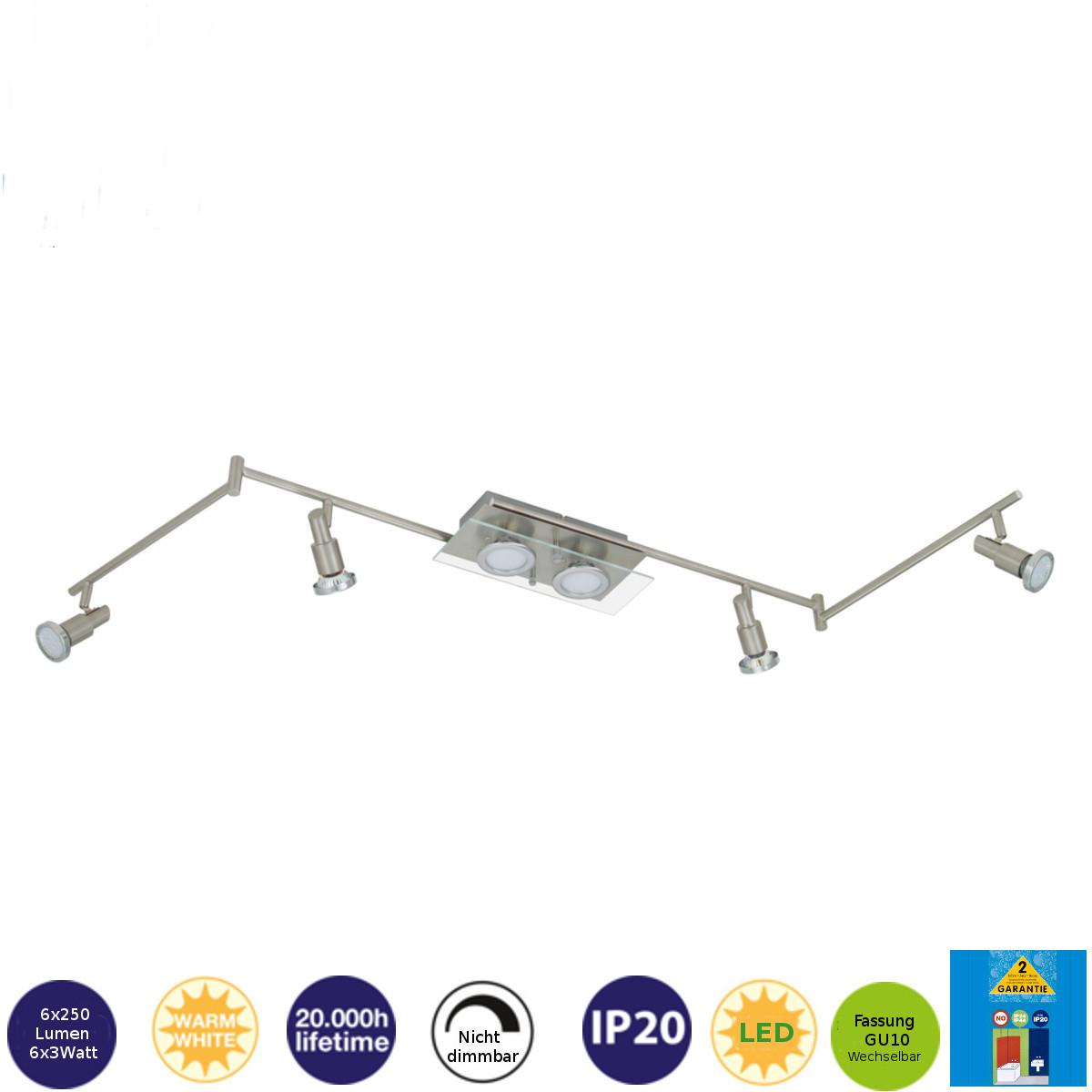 LED Deckenleuchte 60443179 Darlux Deckenspot Schienensystem Deckenlamp