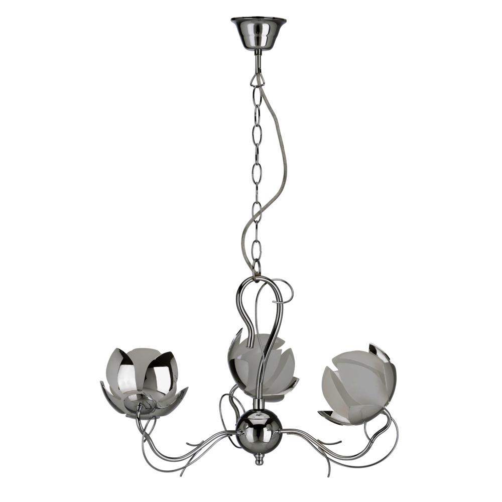 LED Pendelleuchte Darlux 60559575 Blüten chrom-weiß Wohnzimmerlampe