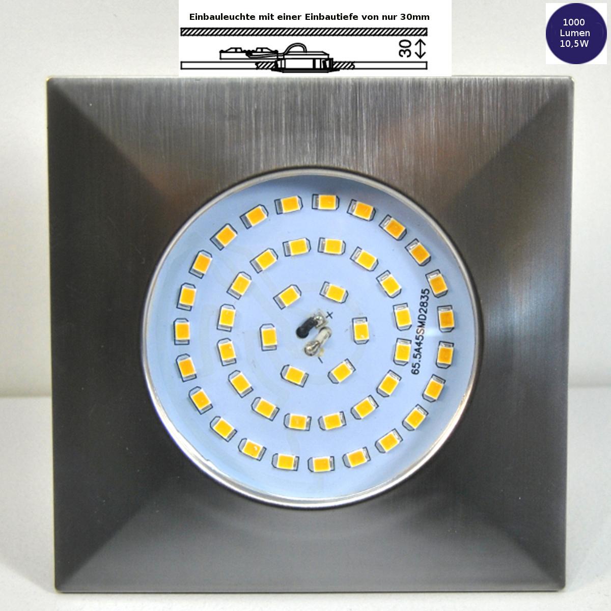 LED Einbauleuchte Darlux 61163555 10,5W 1000 Lumen EinbaustrahlerIP44