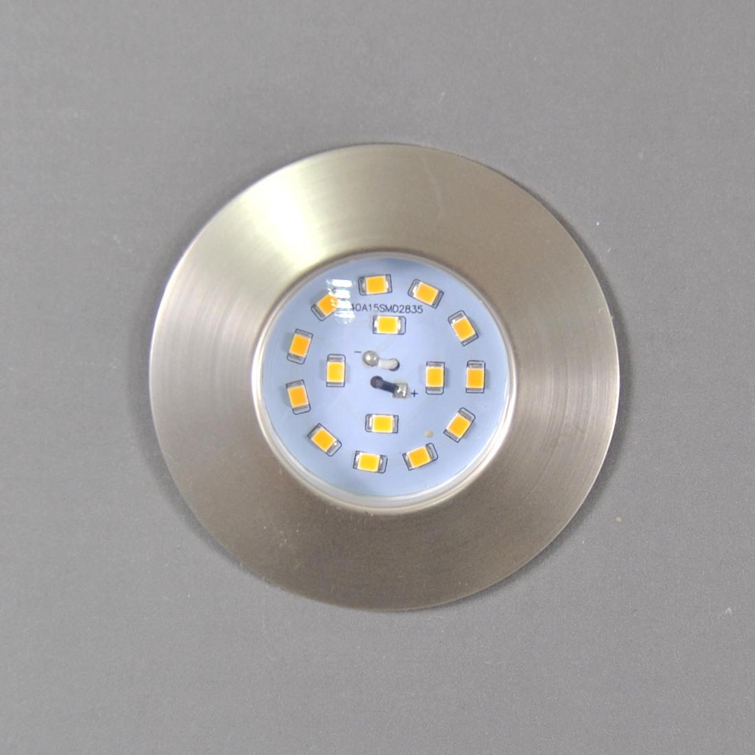 LED Einbauleuchte Darlux 61169472 Einbauspot 5W Nickel-matt IP44