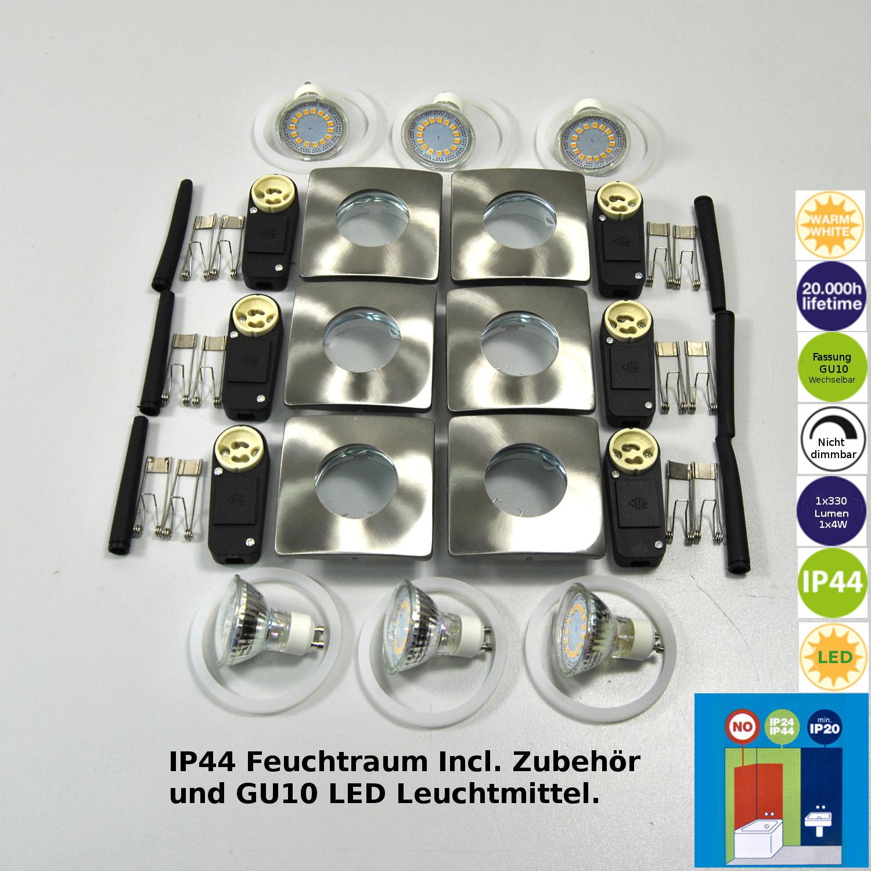 LED Einbauleuchten 6x Darlux 61298047 Einbaustrahler EBL Einbaulampen