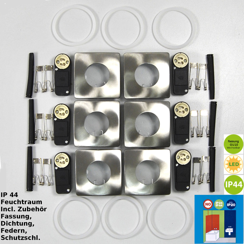 Einbauleuchten Darlux 61303664  EBL Rahmen Einbaulampen GU10 Fassung