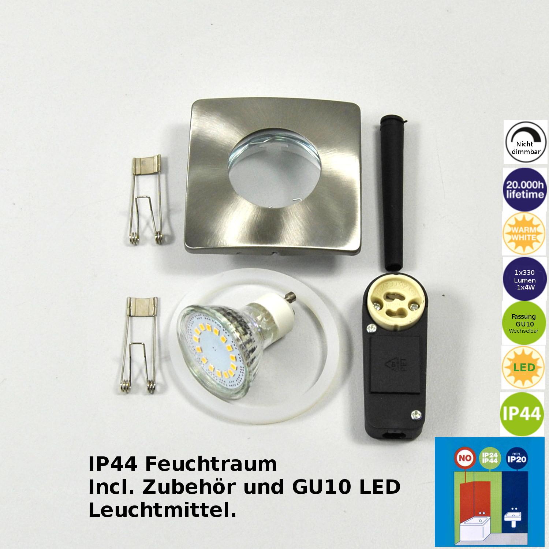 LED Einbauleuchte Darlux 61311355 Einbauspots 4Watt GU10 Lampe IP 44