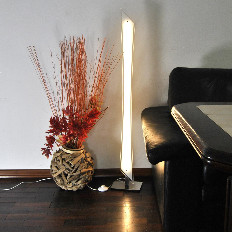 Stehlampe LED Stehleuchte 61827873  Darlux Glas Fußschalter 1500 Lumen