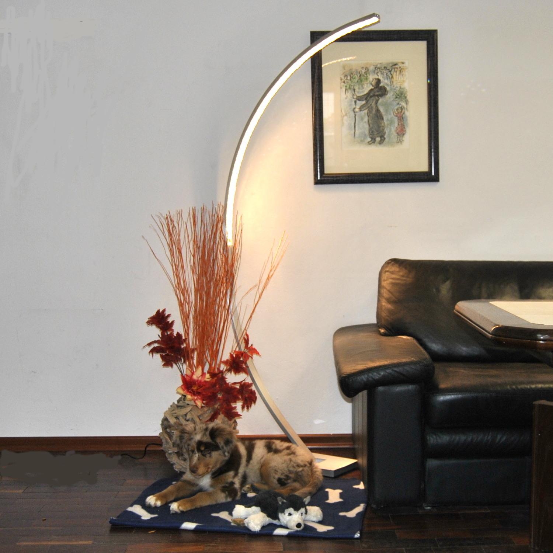 Geschickt Led Stehleuchte Bogenleuchte Lese Leuchte Bogenlampe Stehlampe Dimmbar 165cm Büro & Schreibwaren