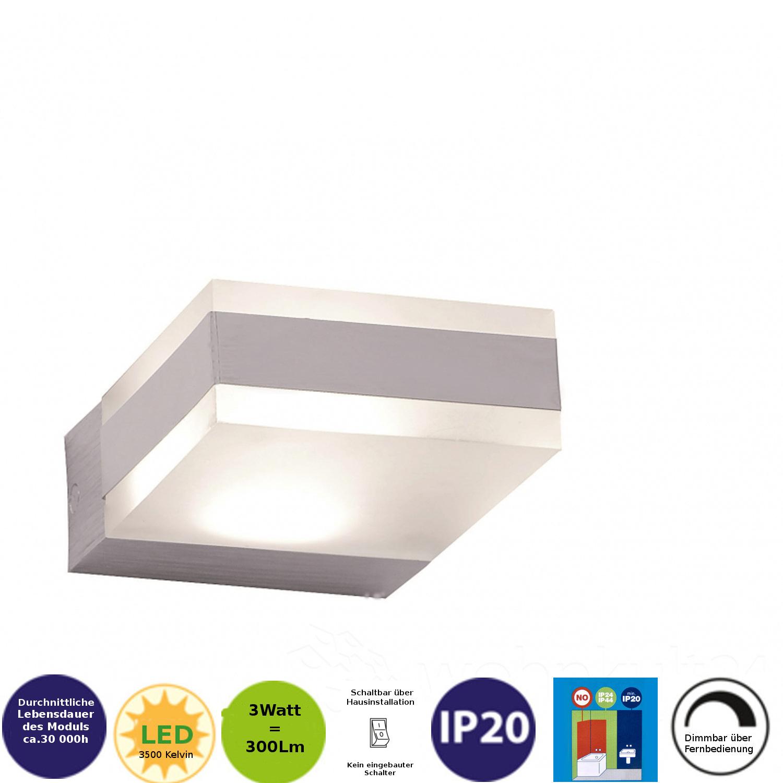 211381 FLI LED Wandlampe Aline 1x3W Honsel Wandleuchte