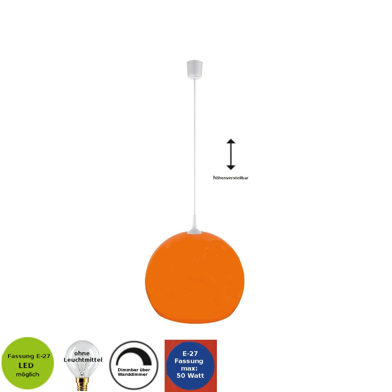 217241 FLI Fischer Pendelleuchte LED möglich Bistro Orange 35cm  E-27