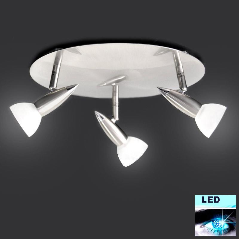 deckenlampe led 3x5w deckenleuchte fischer rondell 31cm wohnzimmer beleuchtung ebay. Black Bedroom Furniture Sets. Home Design Ideas