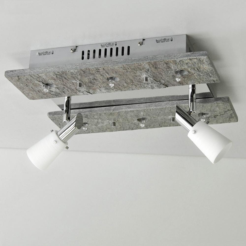deckenleuchte luxus deckenlampe naturstein grau shine halogen led m glich 36cm ebay. Black Bedroom Furniture Sets. Home Design Ideas