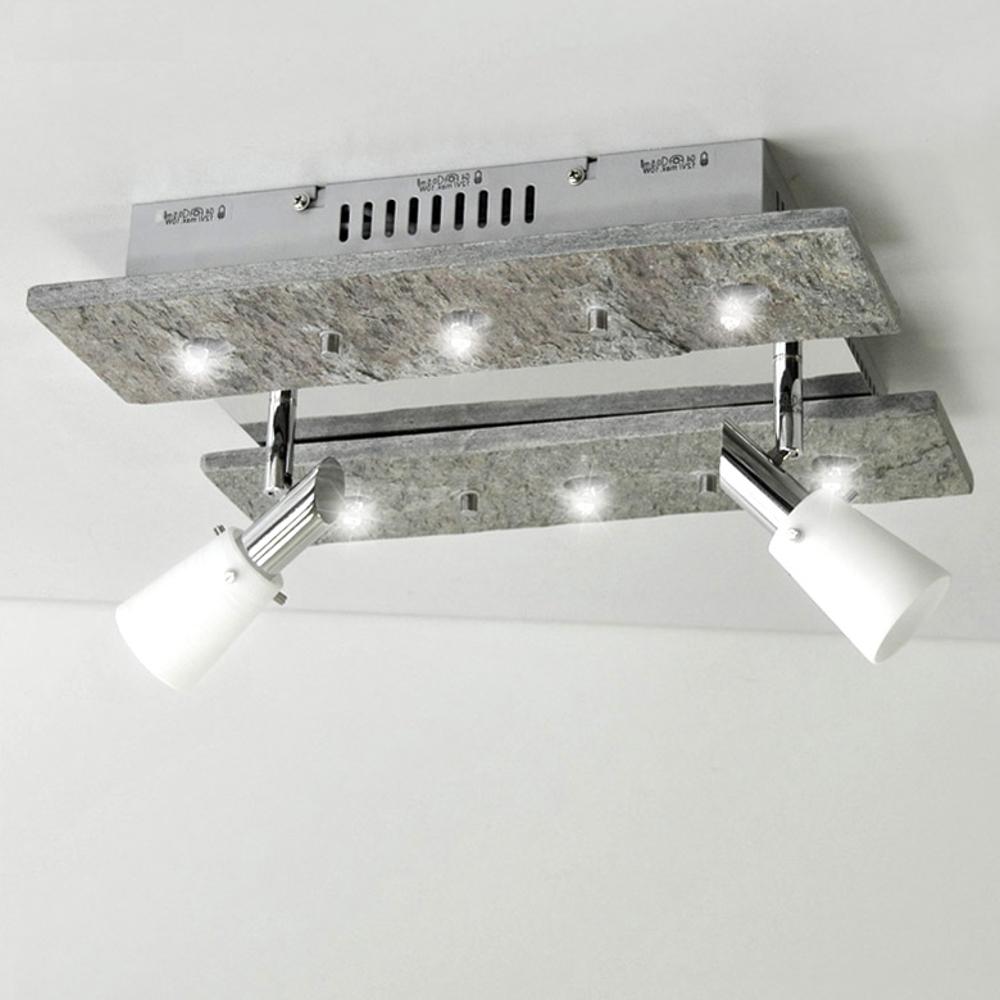 deckenleuchte luxus deckenlampe naturstein grau shine halogen led m glich 36cm. Black Bedroom Furniture Sets. Home Design Ideas