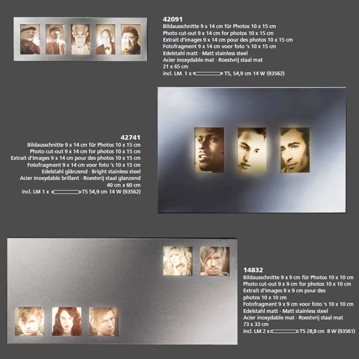 Beleuchteter Bilderrahmen Fotorahmen Fotogalerie Fischer Leuchten ...