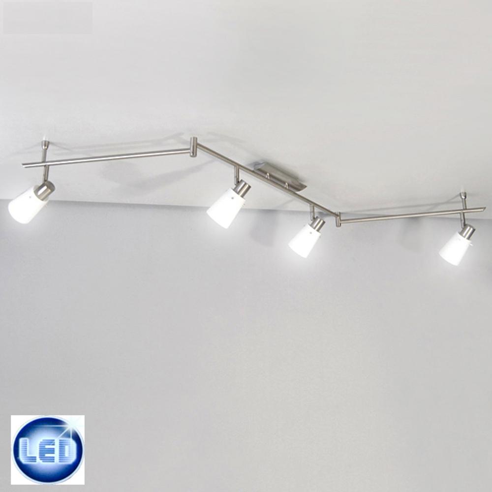 LED Deckenleuchte 1,7m Spot-Leiste Fischer Leuchten mit 4x 4W E14 LED Kugel