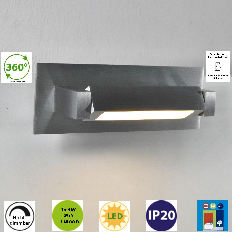 LED Wandlampe 211351 FLI Fischer Honsel Wandleuchte 3Watt drehbar Alu