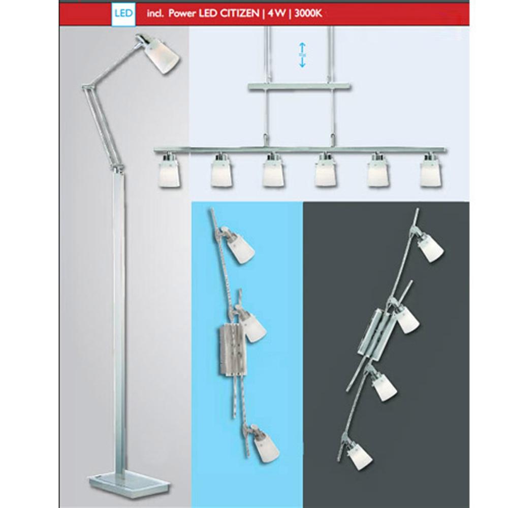 LED Stehleuchte Gelenkarm Stehlampe Leseleuchte 4W CITIZEN Power LED ...