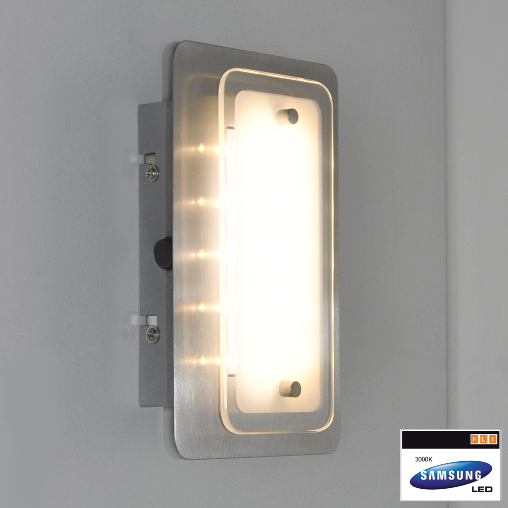 wandleuchten led fli fischer leuchten 20cm deckenleuchte wandlampe mit schalter. Black Bedroom Furniture Sets. Home Design Ideas