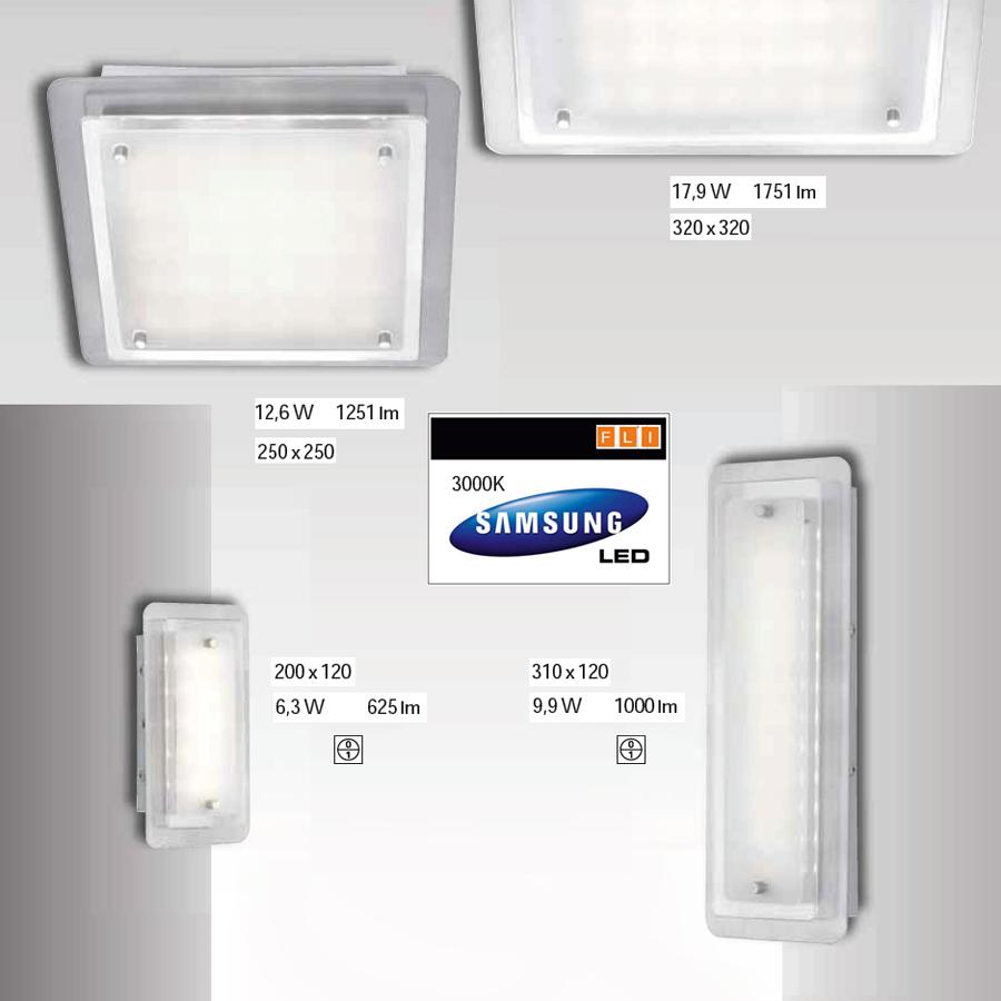 wandleuchten led fli fischer leuchten 20cm deckenleuchte wandlampe mit schalter ebay. Black Bedroom Furniture Sets. Home Design Ideas