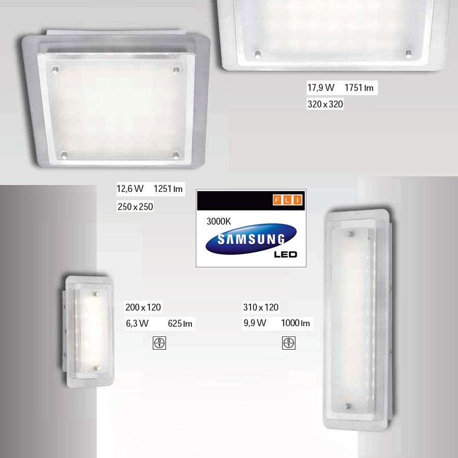 deckenleuchten led fli fischer leuchten 31cm deckenlampe wandlampe mit schalter ebay. Black Bedroom Furniture Sets. Home Design Ideas