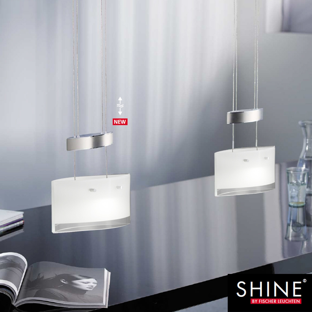 led pendelleuchte h heneinstellbar 48391 fischer leuchten shine zug k chenlampe ebay. Black Bedroom Furniture Sets. Home Design Ideas