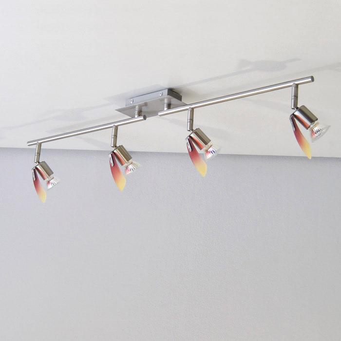 design halog ne plafonnier rouge jaune 4 lampes led. Black Bedroom Furniture Sets. Home Design Ideas