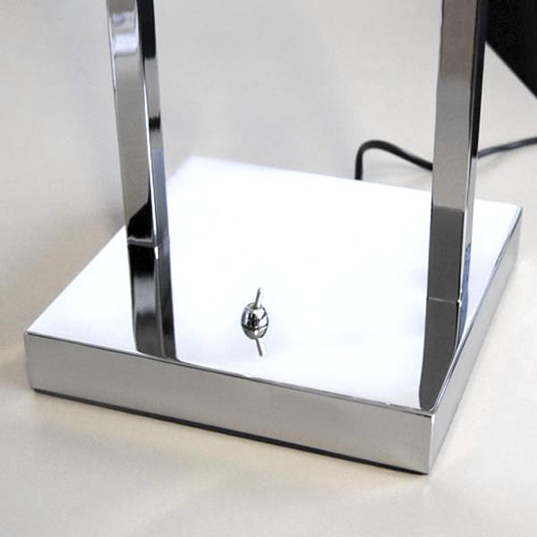 lampe de table design 520mm interrupteur chrome nachttischleuchten fischer ebay. Black Bedroom Furniture Sets. Home Design Ideas