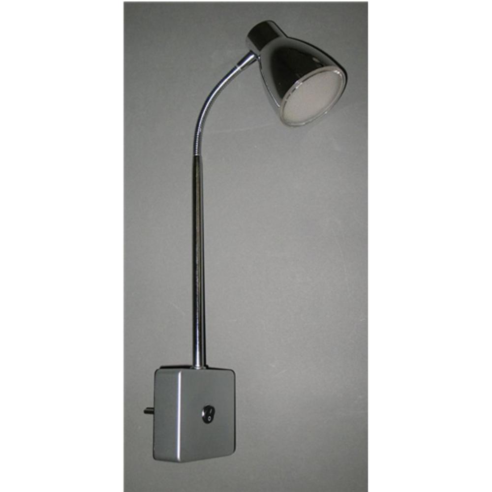 LED Steckdosenspot Steckdosenlampe Briloner Chrom 2616-018P