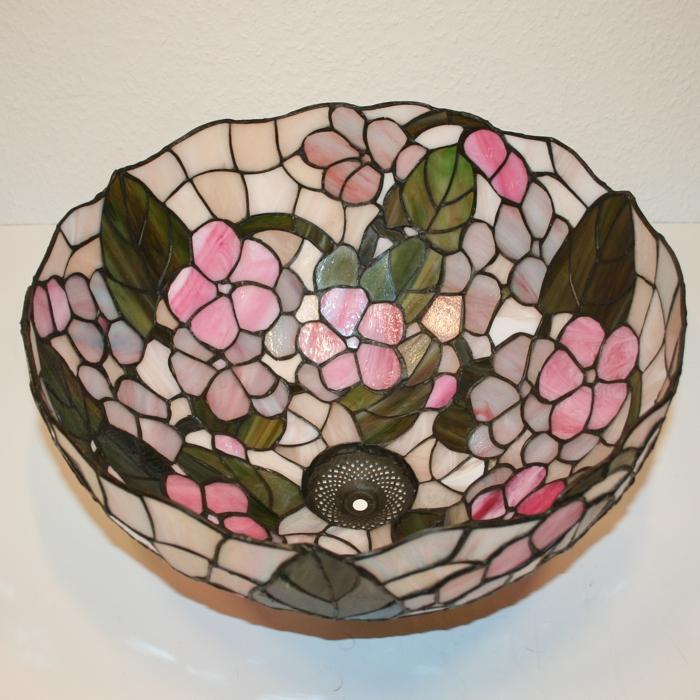 tiffany design art lampenschirm 41x23 5cm lampenglas. Black Bedroom Furniture Sets. Home Design Ideas