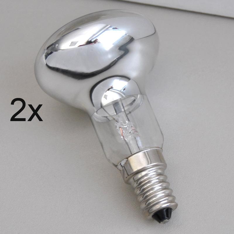 2er Set Leuchtmittel Spot Strahler E14 R50 25W 230V