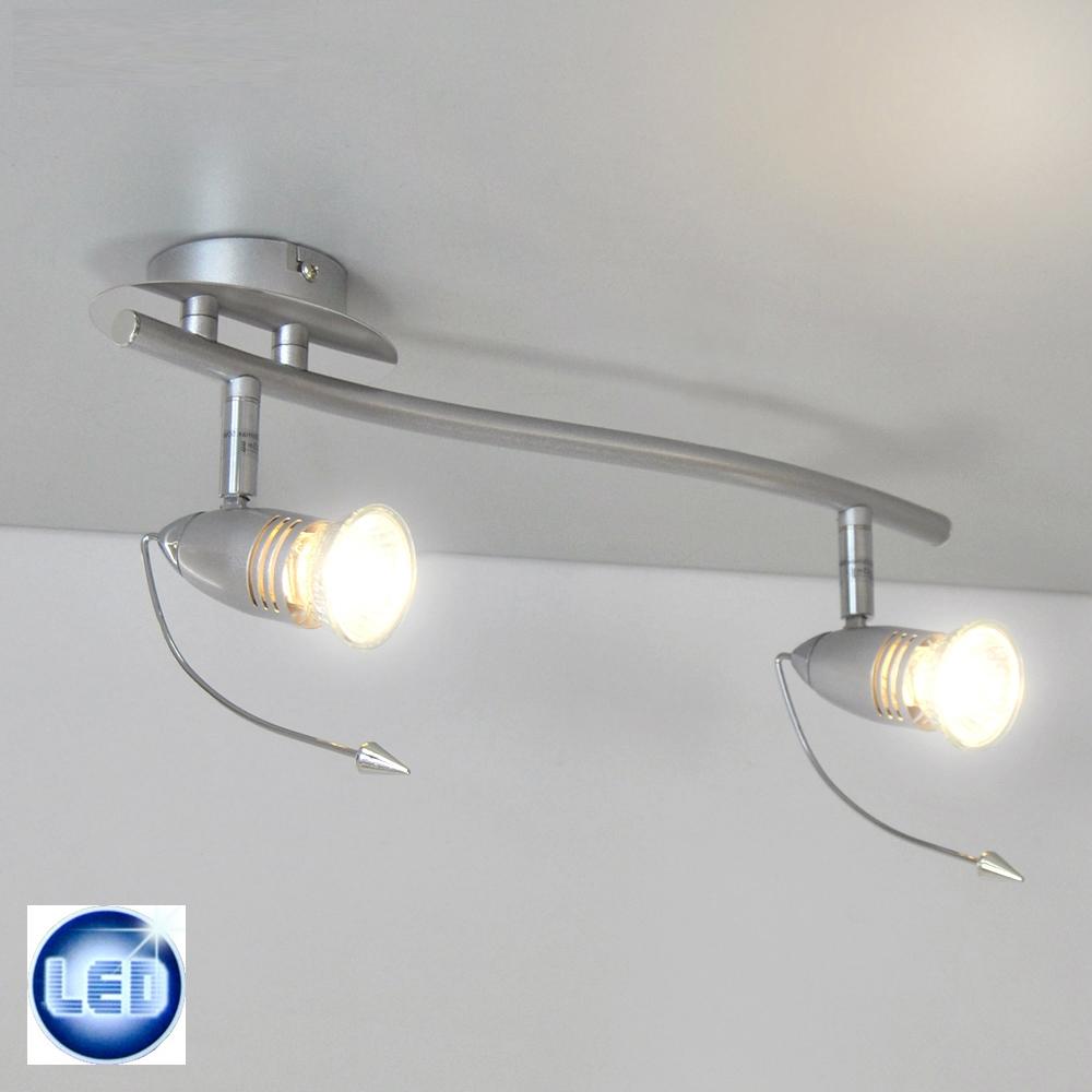 led deckenleuchte 2x3w wandleuchte 370mm strahler spot leiste deckenlampe neu ebay. Black Bedroom Furniture Sets. Home Design Ideas