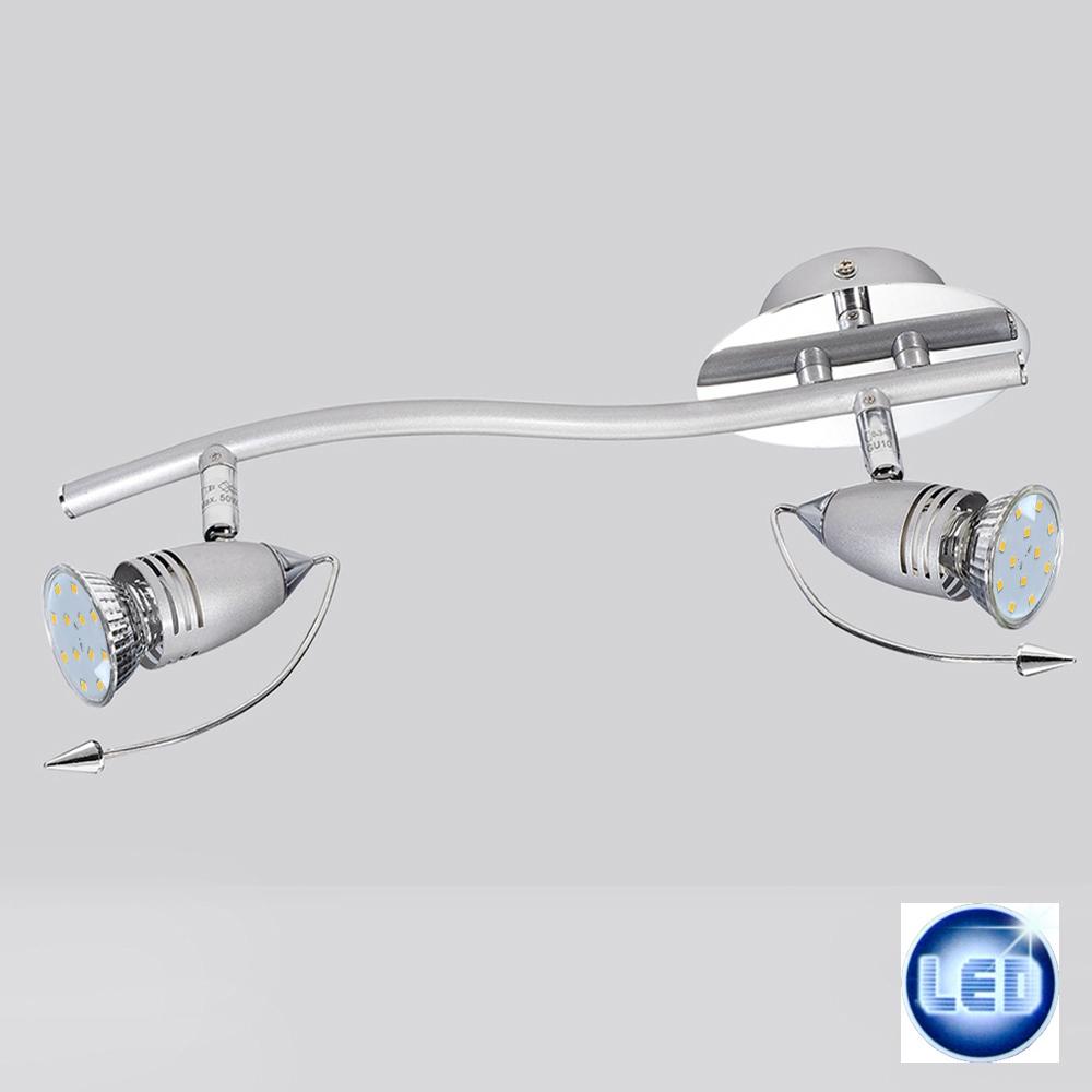 Led deckenleuchte 2x3w wandleuchte 370mm strahler spot for Deckenlampe 2 strahler
