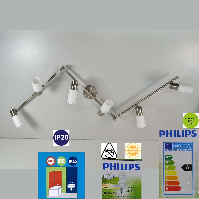 Deckenlampe Deckenleuchte 50956-17-10 Massive Philips 6x12W E14