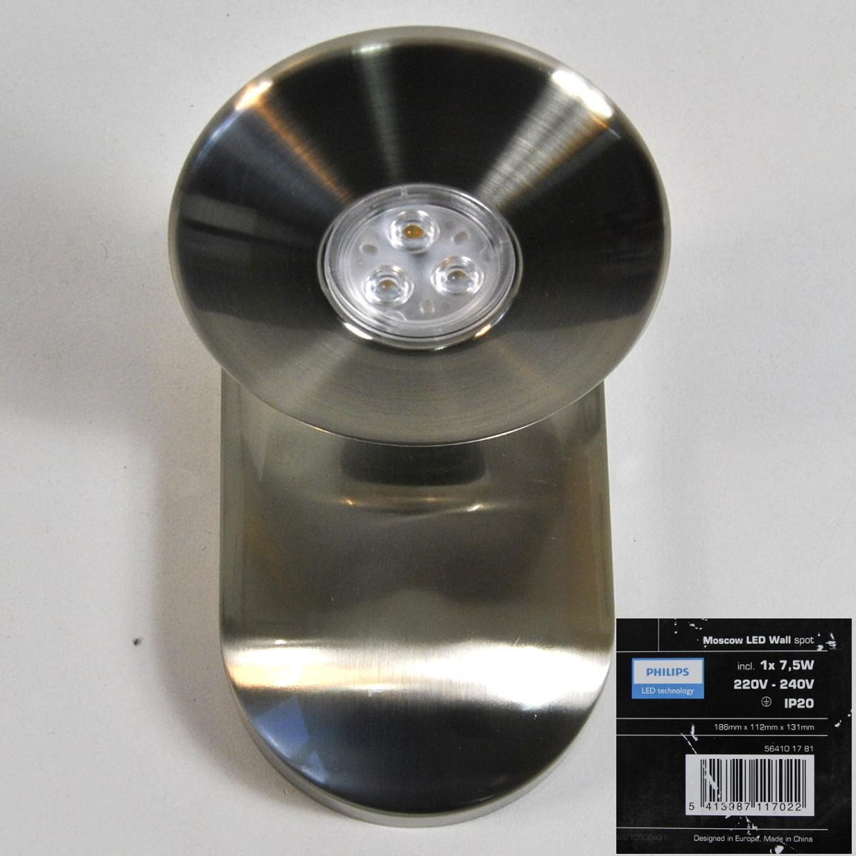 LED Wandleuchte Wandstrahler Philips Massive 564101781 Moscow Podium