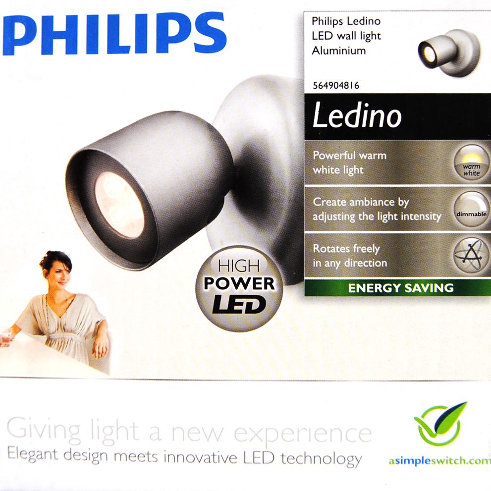 56490/48/16 PHILIPS Ledino 1er LED Wandlampe Wandleuchte