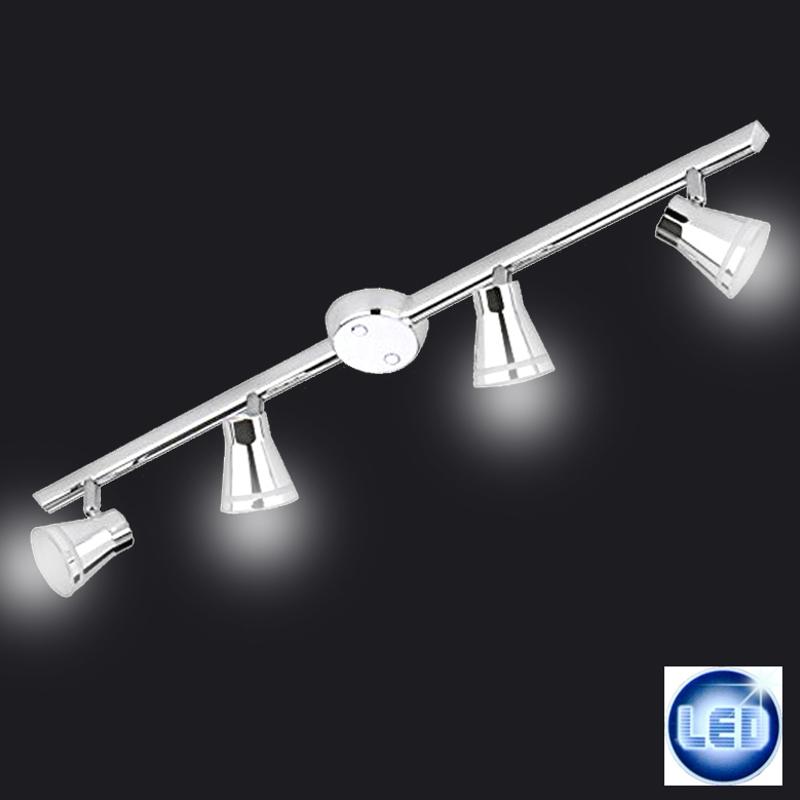 LED Deckenleuchte Briloner Prisma Leuchten 81cm Chrom