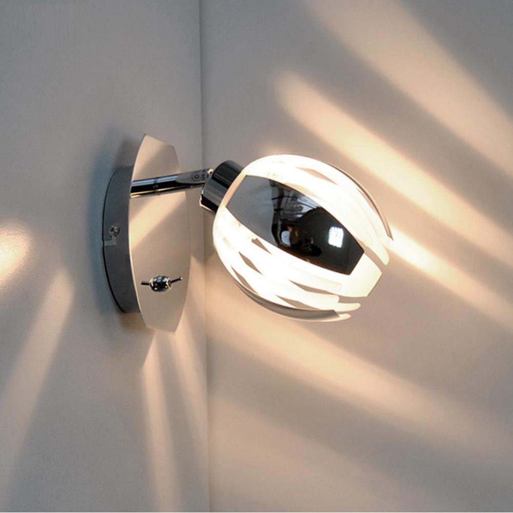 wandleuchte deckenleuchte chrom schalter leselampe spot wandlampe deckenlampe ebay. Black Bedroom Furniture Sets. Home Design Ideas