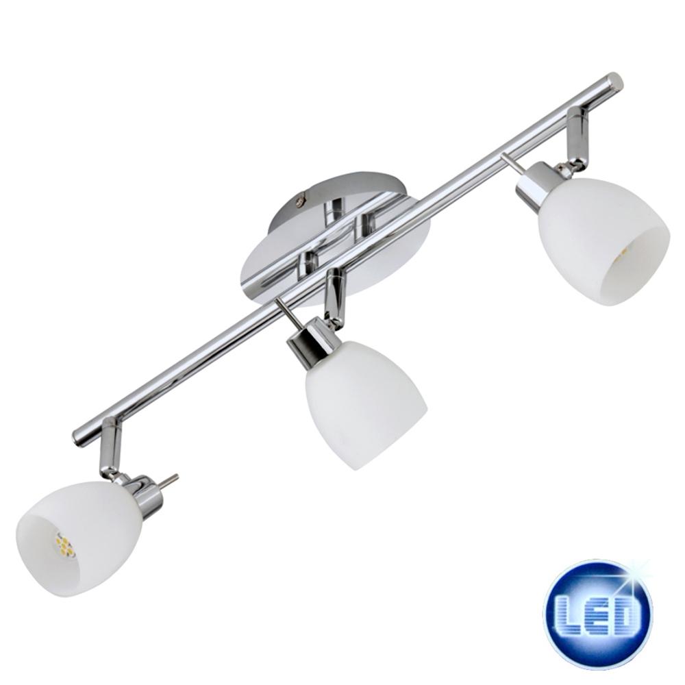 LED Deckenleuchte Chrom 3x 2,2W warm-weiß Prisma Briloner 52759149