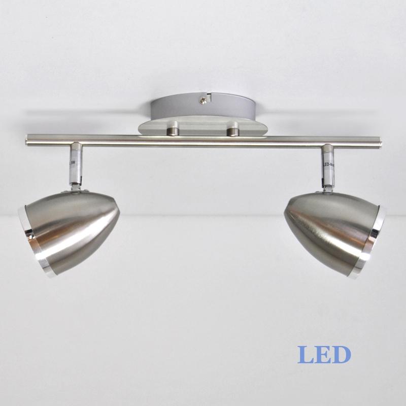 LED Deckenleuchte Wandleuchte 2893-022 Briloner Prisma 2x5W