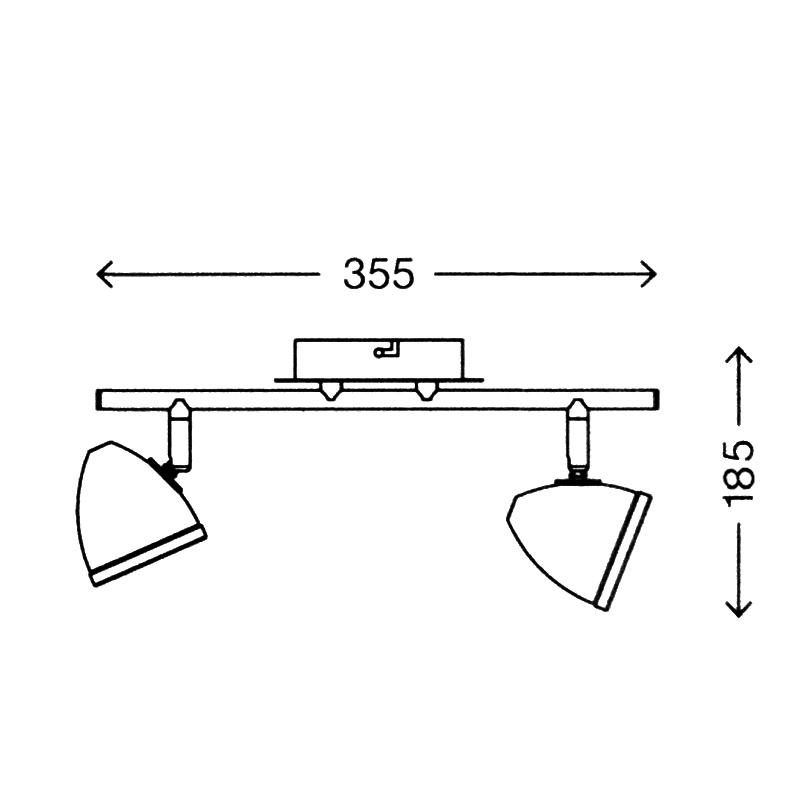 deckenleuchte 2x5w led wandleuchte strahler spot deckenlampe prisma leuchten neu ebay. Black Bedroom Furniture Sets. Home Design Ideas