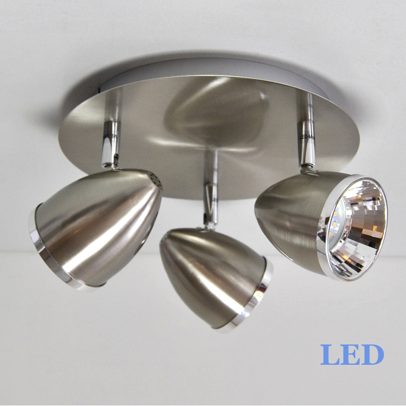 LED Deckenleuchte 2893-032 Briloner Prisma Rondell 3x5W
