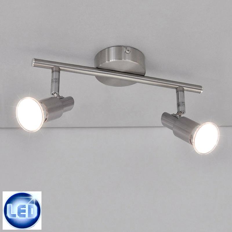 LED Deckenleuchte / Wandleuchte 36657450 mit 2x 3W GU10 LED