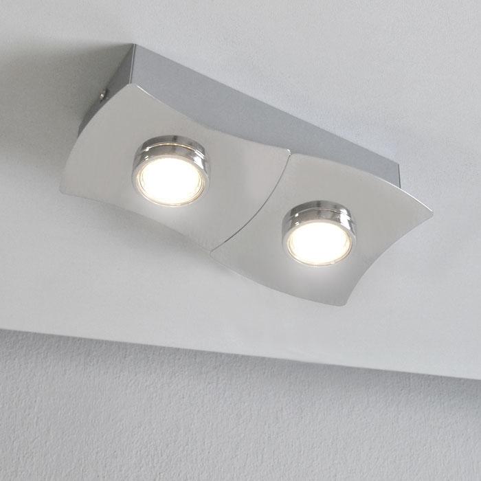 eco halogen deckenlampe deckenleuchte wandlampe chrom gu10 led m glich dimmbar ebay. Black Bedroom Furniture Sets. Home Design Ideas