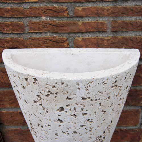 wandleuchte wandlampe wandfackel wandfluter mediterran keramik led m glich 63cm ebay. Black Bedroom Furniture Sets. Home Design Ideas